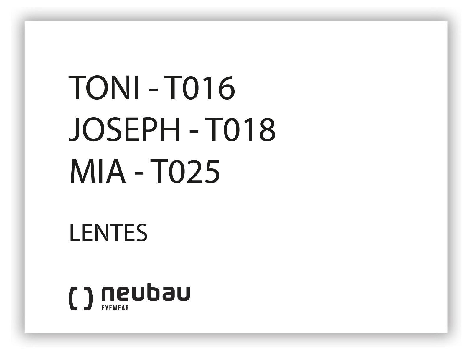 NEUBAU_T016, T018, T025-LENTES