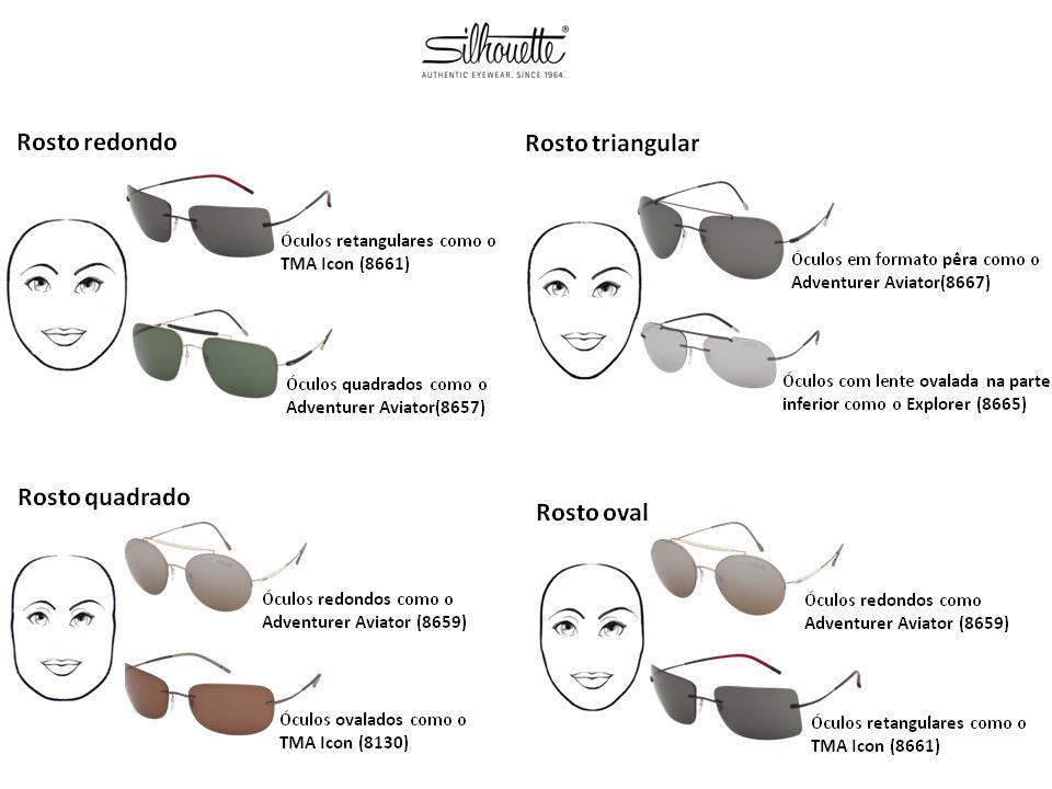Conheça o melhor modelo de sol para cada rosto com a Silhouette ... 051b83eb18